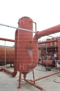 waste tire recycling and pyrolysis plant