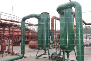 waste tyre pyrolysis plant by-products