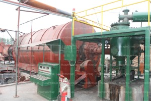 waste tyres to diesel oil recycle plant